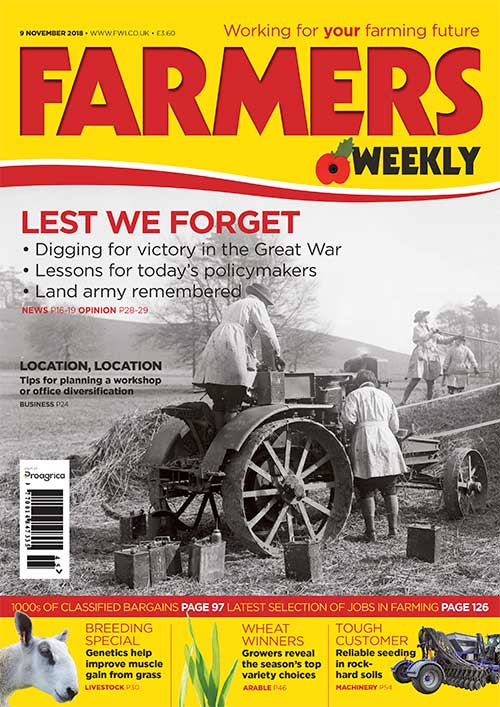 Farmers Weekly cover for 9 November 2018