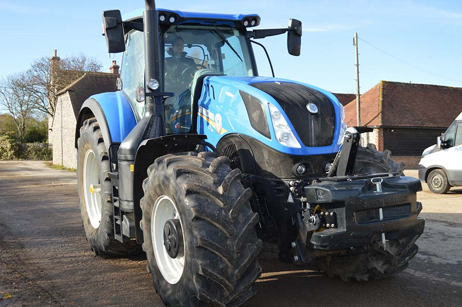 New Holland T7 tractor at Goodwood