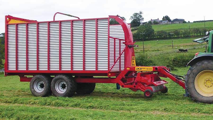 Home-made forage wagon