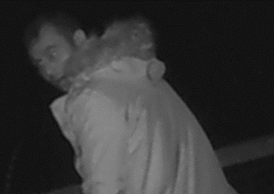 Man on CCTV footage