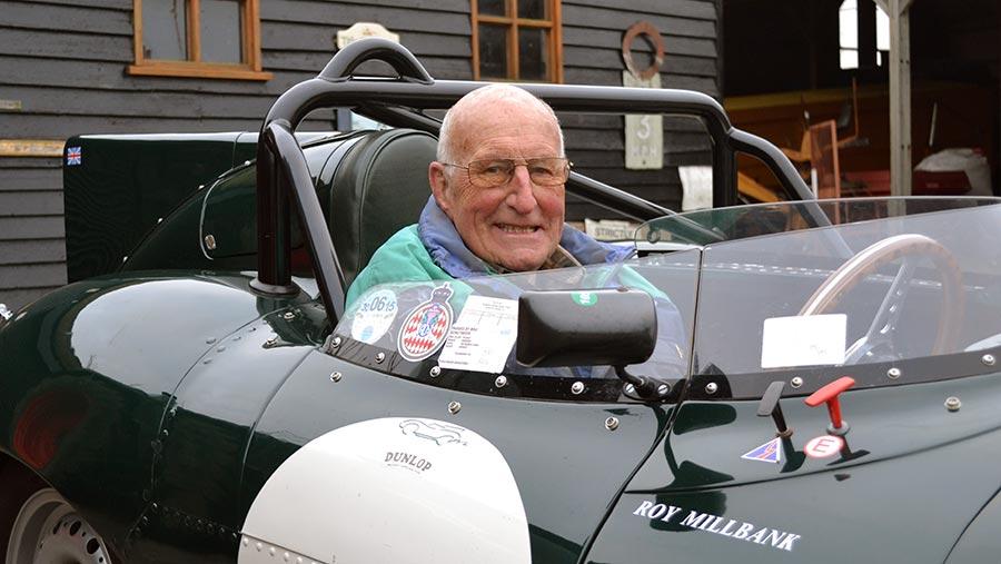 Roy Millbank in Jaguar D-type © Tim Relf