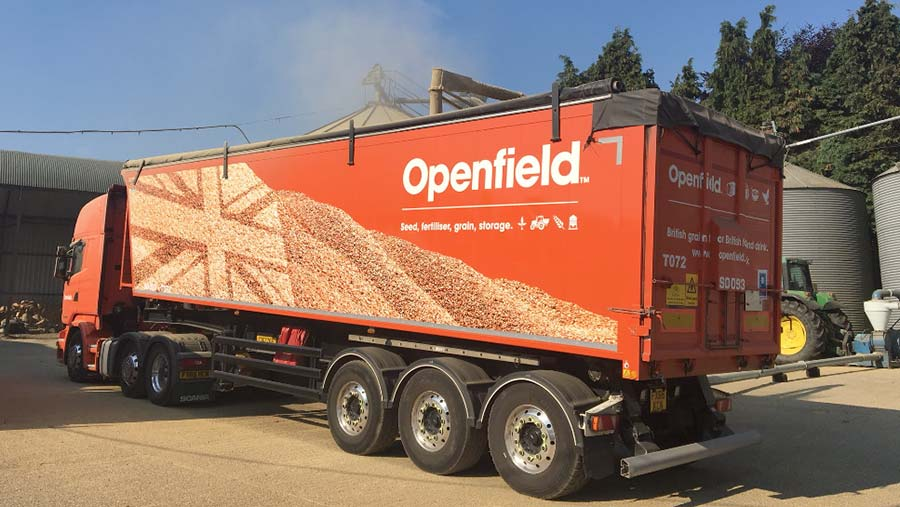 Openfield lorry
