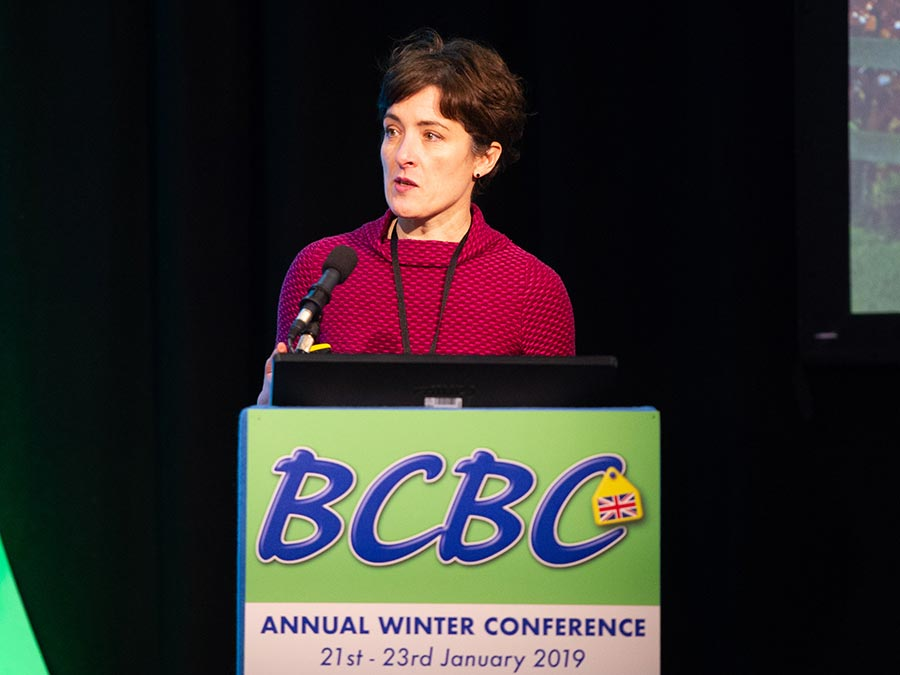 Amy Jackson at the British Cattle Breeders Conference