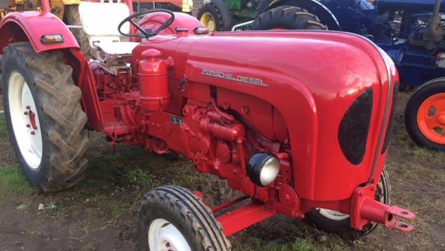The stolen Porsche tractor © Staffordshire Police