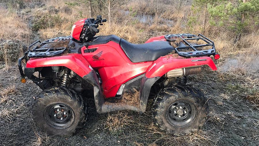Stolen quad bike recovered © Hampshire Constabulary