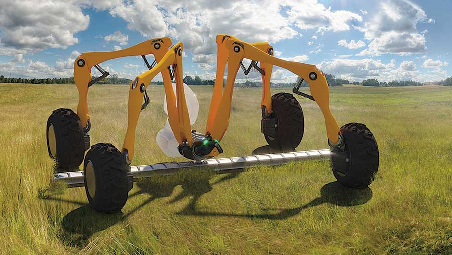 Small Robot Company's Dick concept robot in field