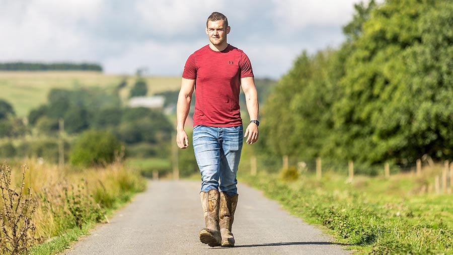 Rugby player Dan Lydiate