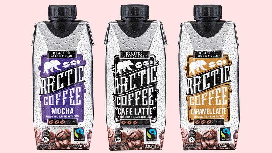 Three cartons of Arctic drinks