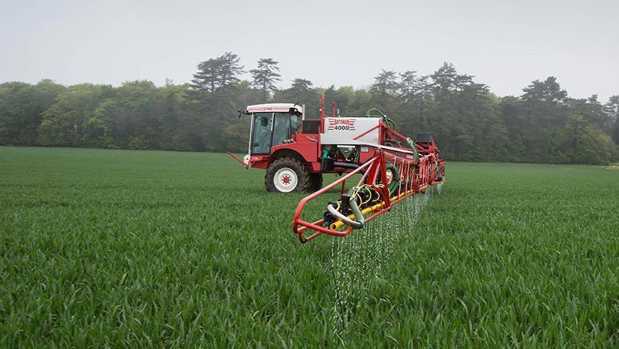 Applying liquid nitrogen to field