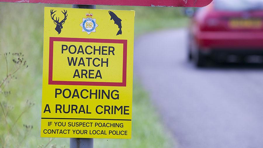 poaching sign