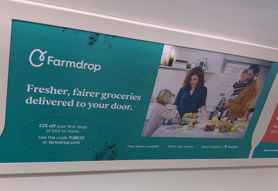 Advert on London Underground train