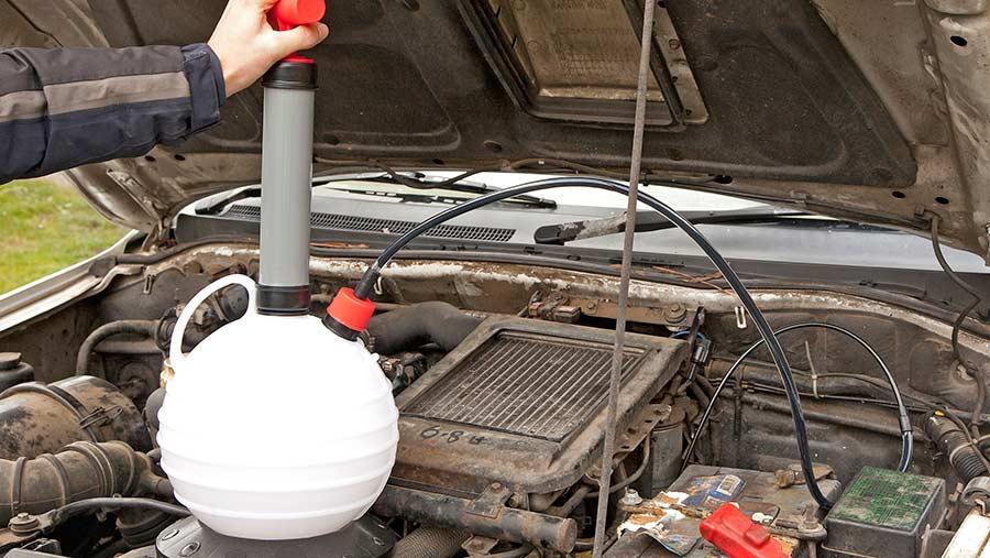 Laser oil/fluid extractor
