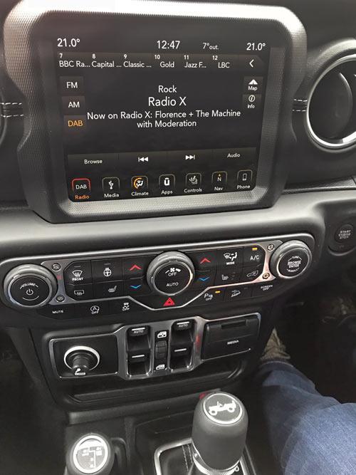 Jeep Wrangler interior