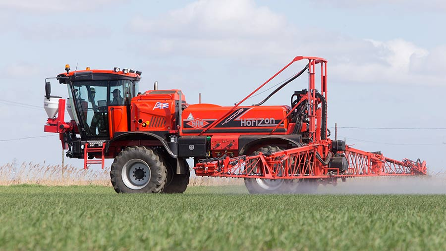 Applying herbicide to winter wheat
