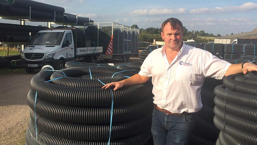Drainage consultant Andy Cotterill