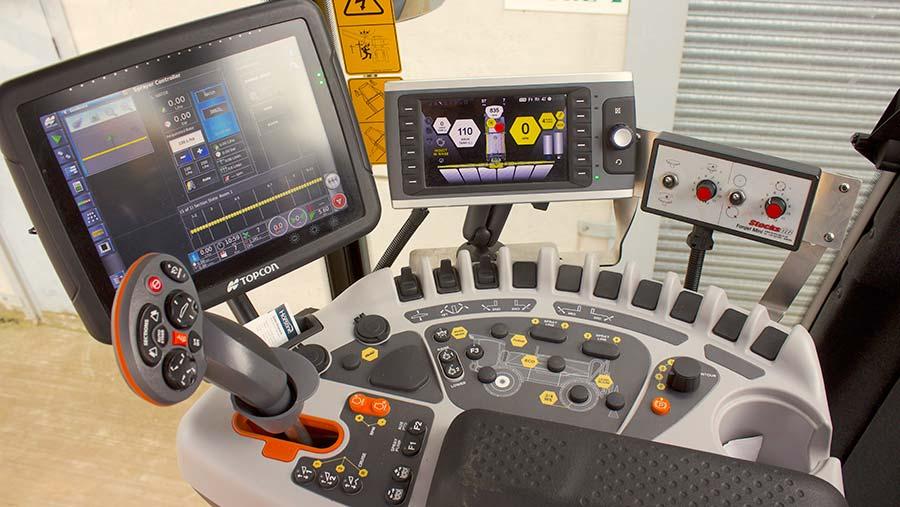 Chafer Interceptor cab controls