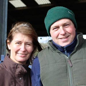 Maggie and David Kelly on the farm