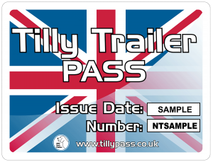 Tilly Pass sticker with Union Jack design