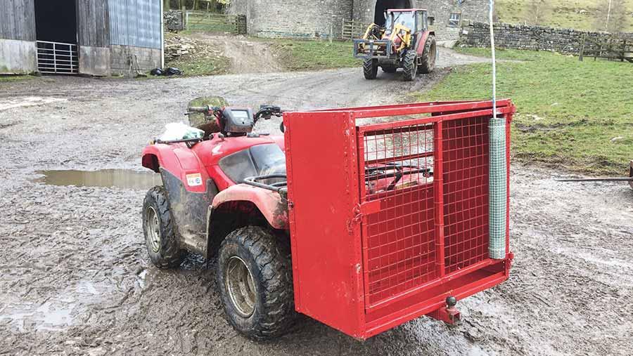 John Greenwood's sheep moving trailer