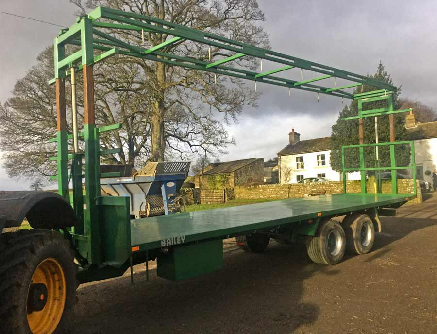 Robert Hooper's bale trailer clamp