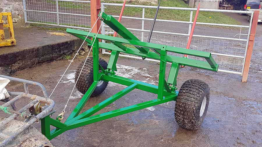 Tom Jones' square bale handler