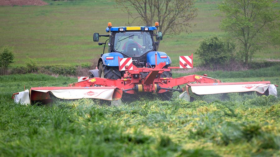 Farmers should test grass before they cut © Tim Scrivener