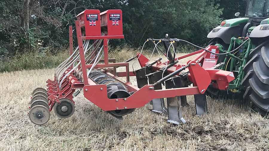 Ian Mellor's oilseed rape drill