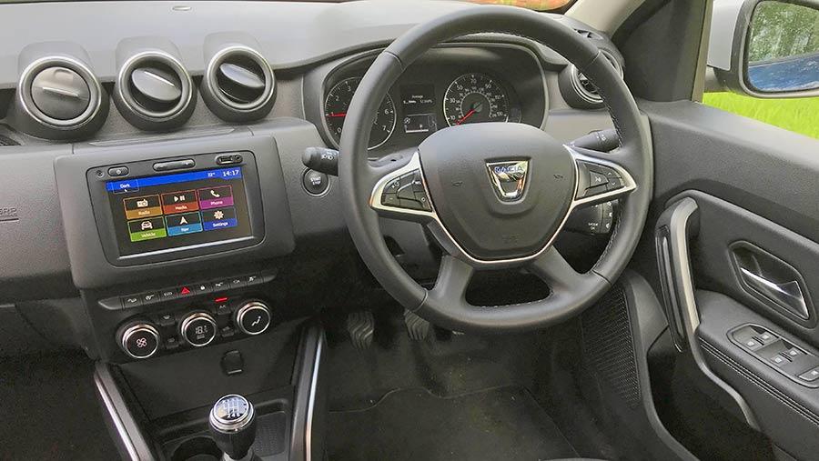 Interior of the Dacia Duster