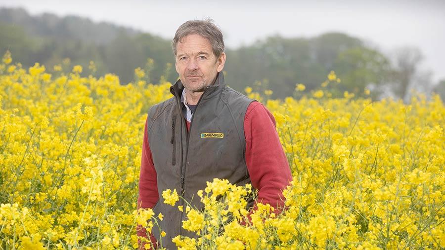 Steve Klenk in field of oilseed rape