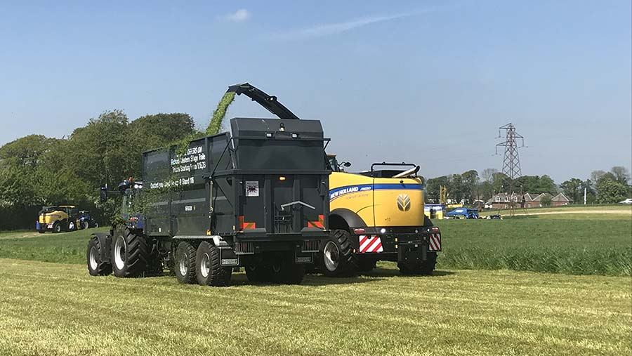 New Holland FR and trailer