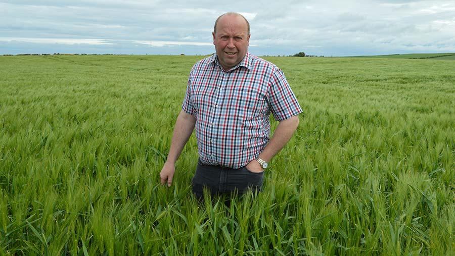 Scottish barley farmer Iain Green