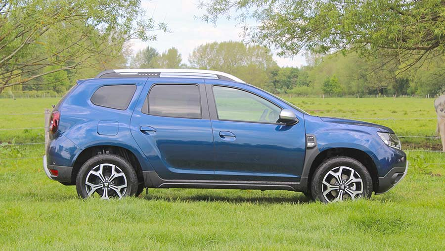 Side view of Dacia Duster