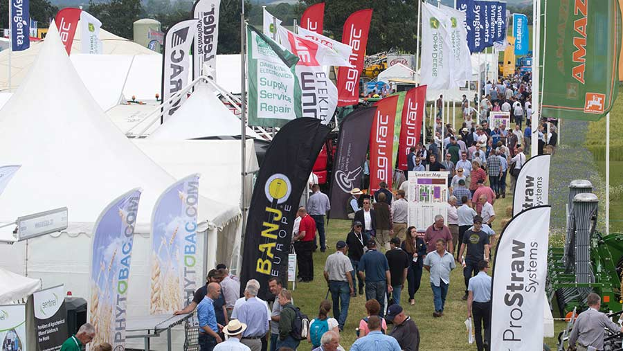 Business area with marquees at Cereals 2018