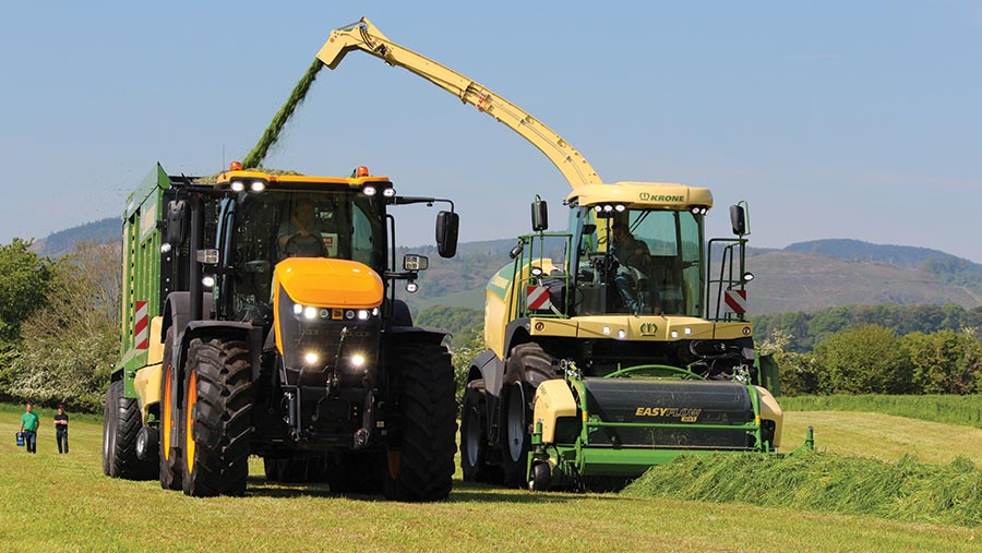 Krone Big X 580 is action at Scotgrass 2019
