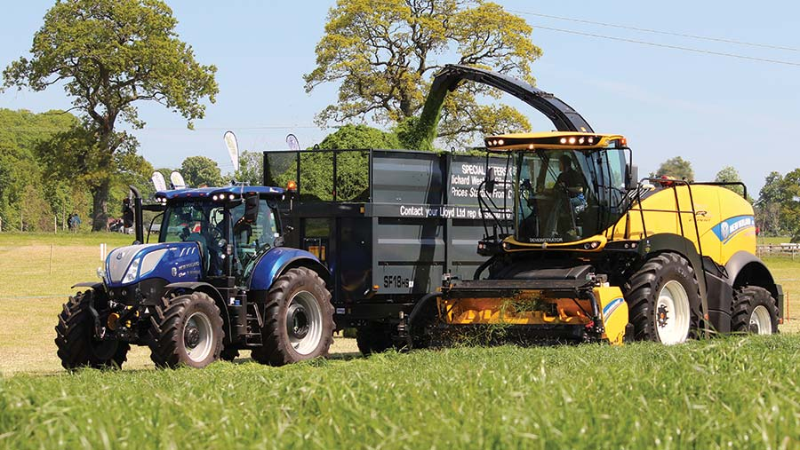 New Holland FR550 forager in action at Scotgrass 2019