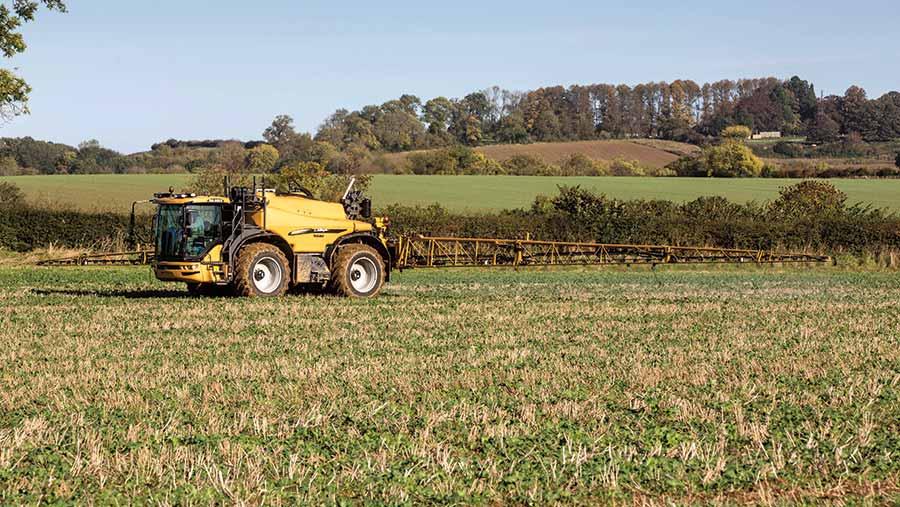 Spraying OSR in autumn