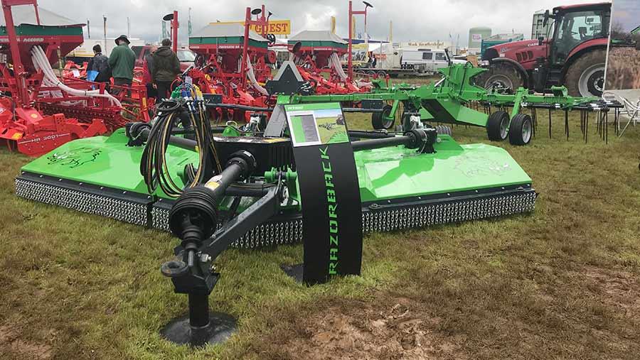 A green mower