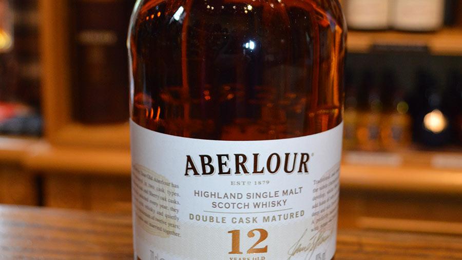 Aberlour whisky bottle