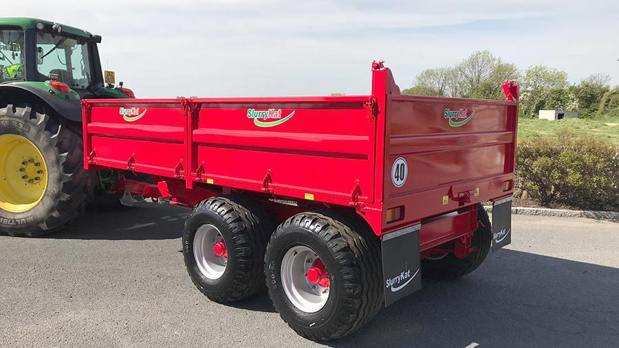 A red trailer