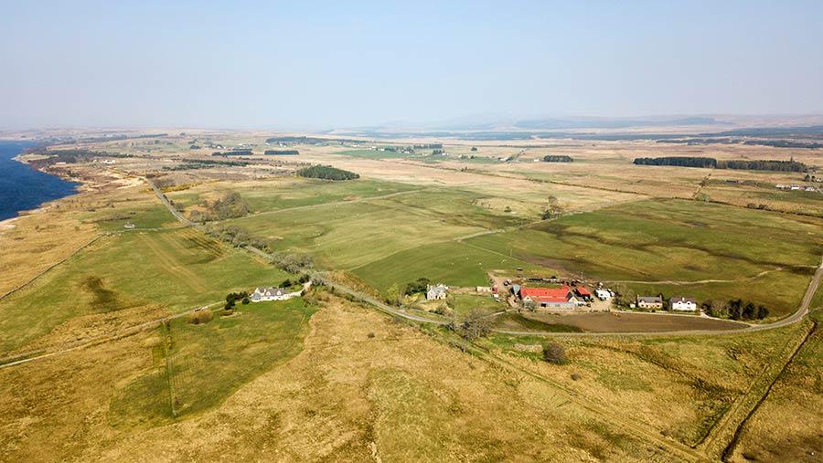 Aerial view of Colaboll Farm