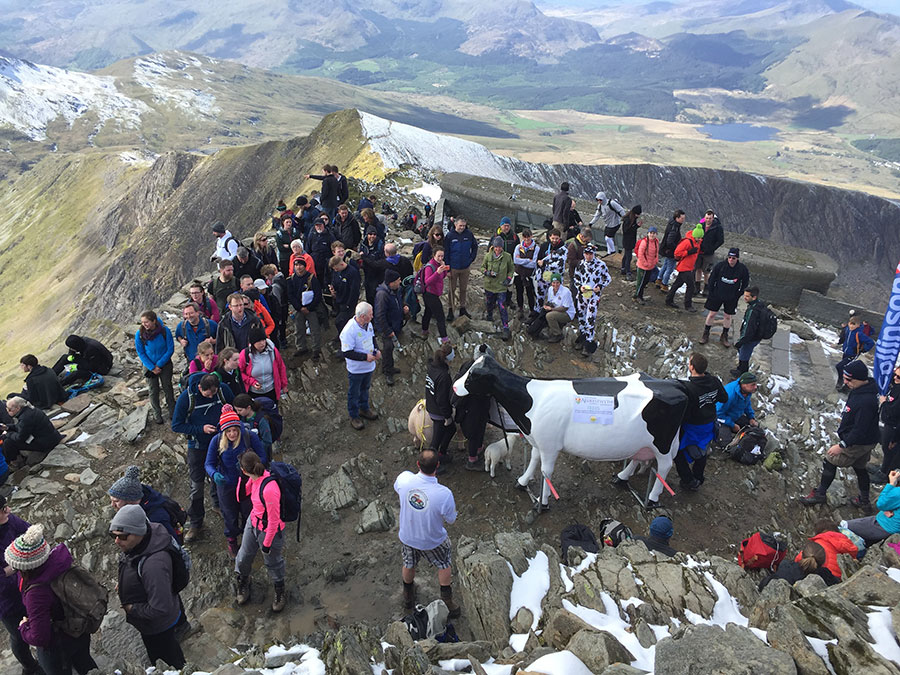 Farmers on mountain top