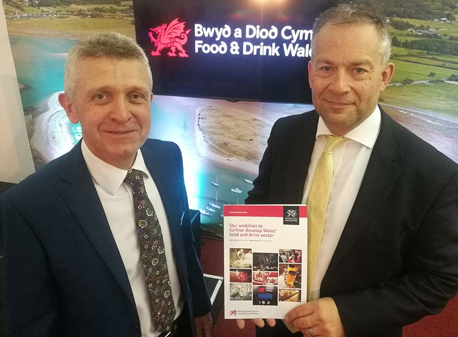 David Lloyd-Thomas and Andy Richardson with booklet
