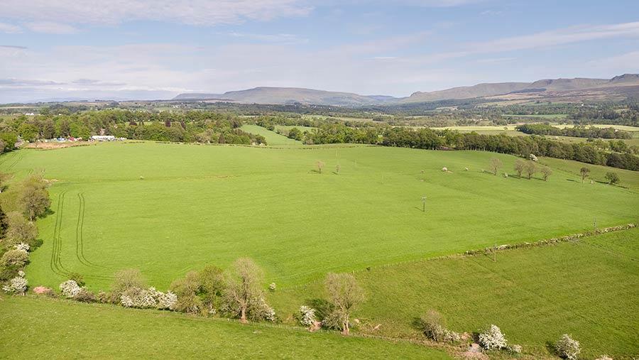 Aerial view of Cairnlea Farm