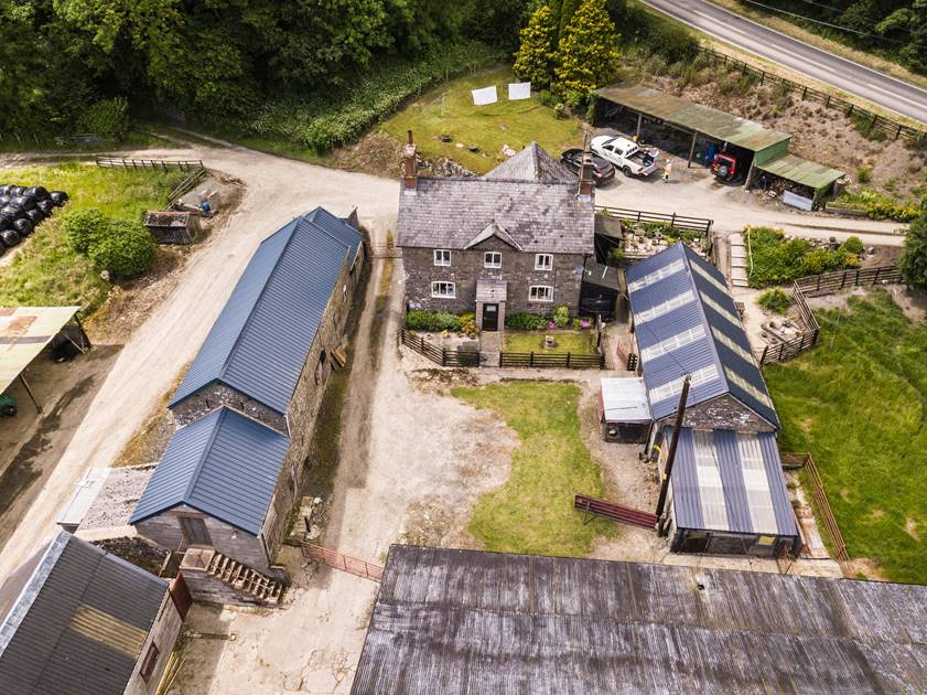 Aerial view of Broadway Farm