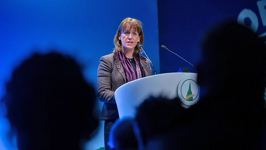 Minette Batters addressing the 2019 OFC © David Hartley/Shutterstock