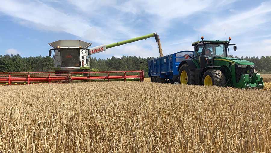 Colin McGregor harvests barley in Berwickshire © Colin McGregor