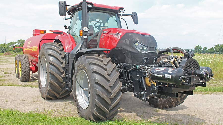 tractor with compressor and slurry tanker