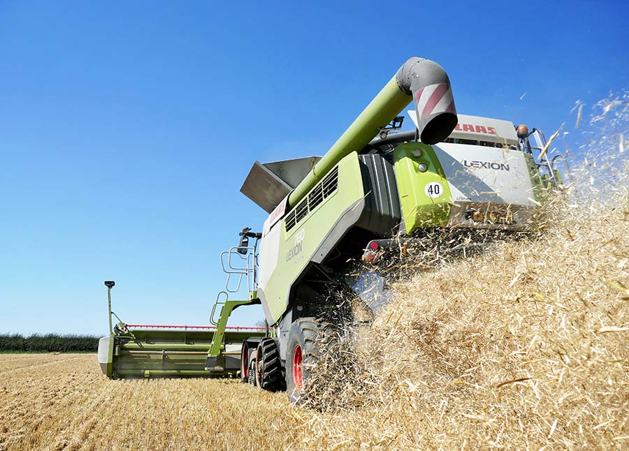 Combine from behind by Jonathan Trotter
