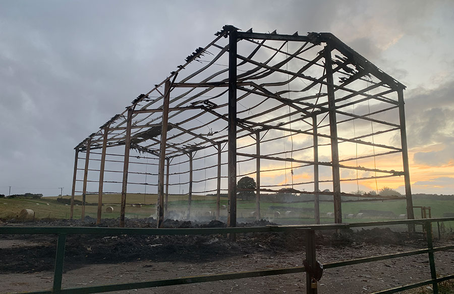 The gutted barn