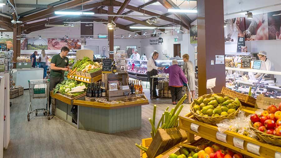 Interior of the Essington farm shop